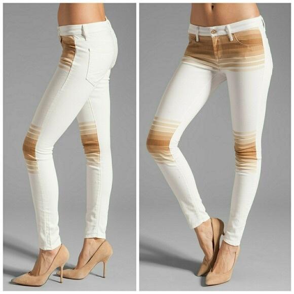 MOTHER Denim - MOTHER LOOKER 70's INSPIRED  stripe jeans